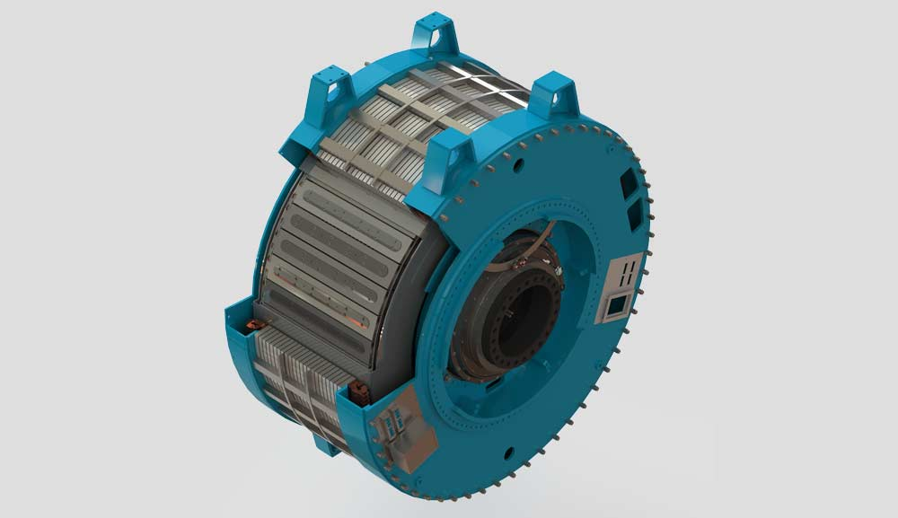 This generator is equipped with more than 30 coils produced by THEVA.