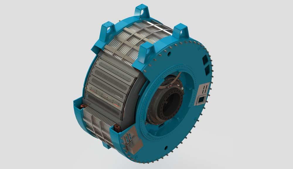 In diesem Generator sind über 30 von THEVA hergestellte Spulen verbaut.