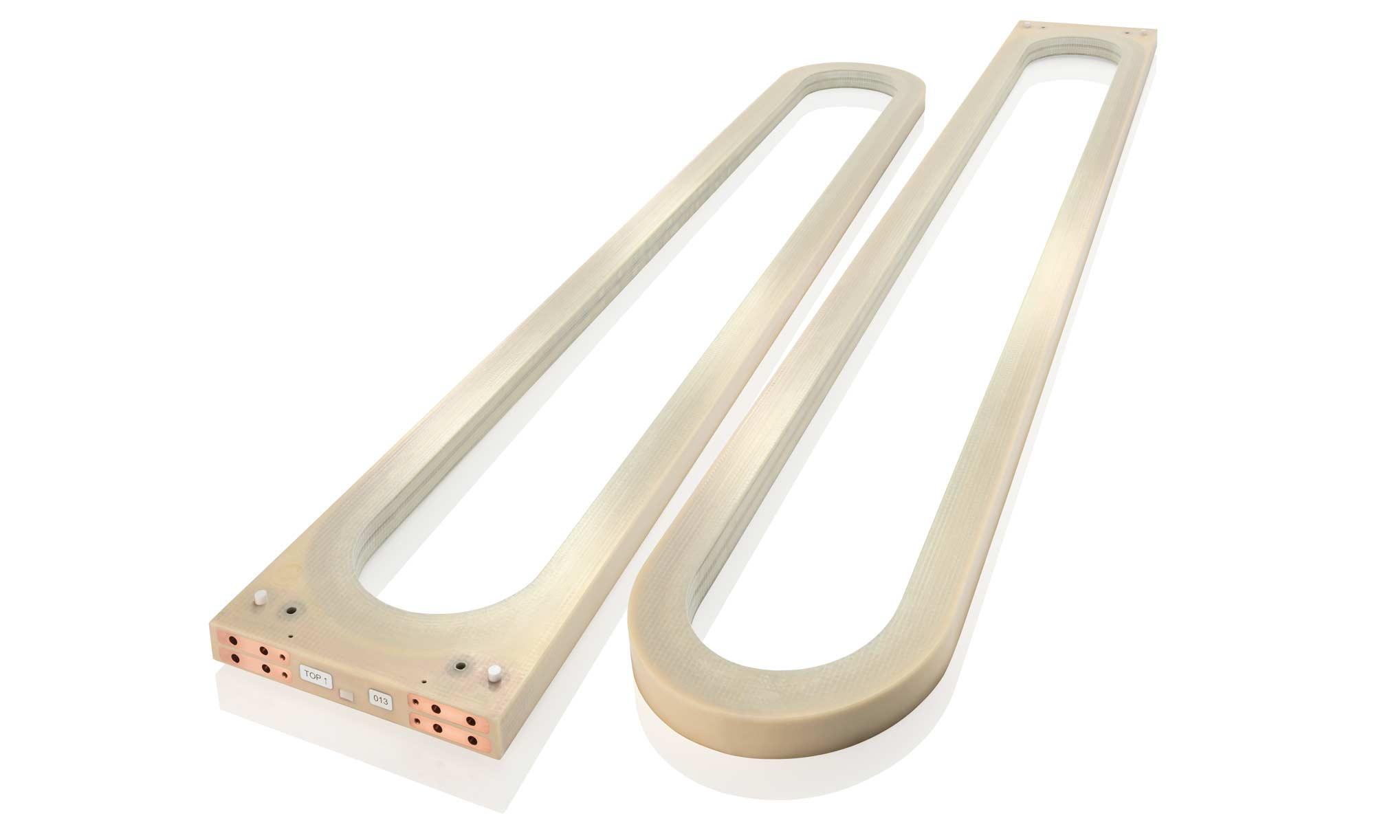 """THEVA bietet HTS-Spulen unterschiedlicher Größen und Formen gemäß dem Prinzip """"coil follows design""""."""