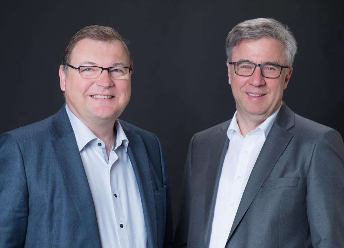 Geschäftsführung Theva - Dr. Werner Prusseit und Andreas Wiedmann